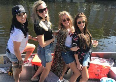 Die phantastischen Vier am Boot