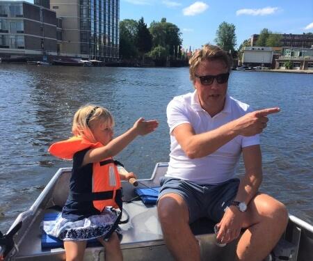 Amsterdam Boot fahren Grachten