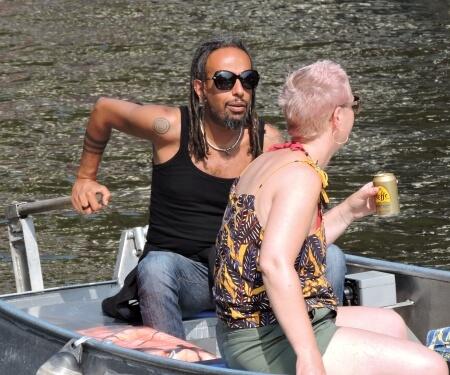 Motorboot selber fahren Grachtenfahrt Amsterdam