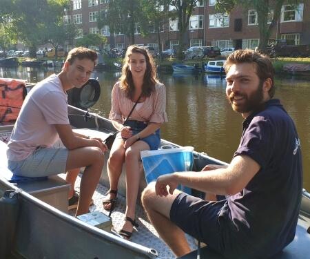 Amsterdam Boot fahren