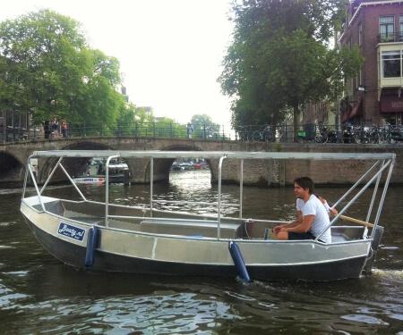 Elektroboot Solardach Grachtenfahrt Amsterdam