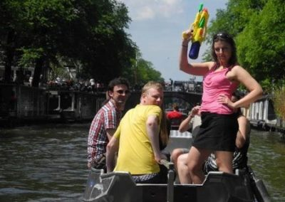 Lady James Bond in Amsterdam